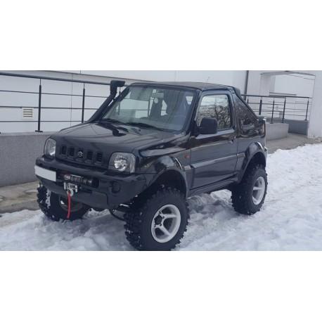 Exemplu Montaj Troliu Best Winch 6800LBS 3084 KG 12V Suzuki Jimny Cabrio integrat in bara originala
