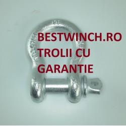 Ocheti zincati model O marime 3/4 WLL 4.75 T rezistenta 28.5 Tone