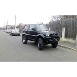 Exemplu Montaj Troliu Best Winch 6800 LBS 3084 KG 12V Suzuki Jimny negru integrat in bara originala