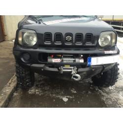 Exemplu Montaj Troliu Best Winch 6800 LBS 3084 KG 12V Suzuki Jimny negru _ _ _ ultimul
